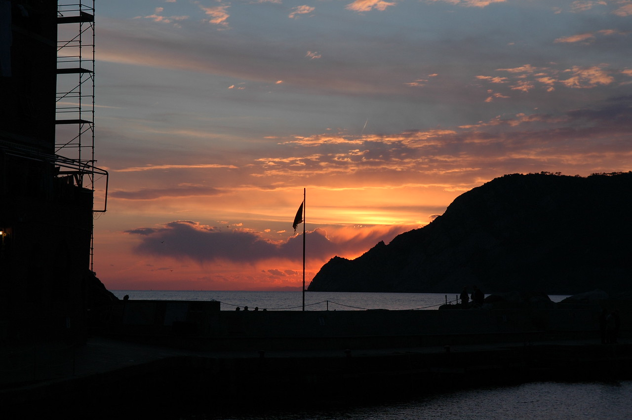 Sunset on the Vernazza waterfront.