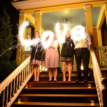 LOVE in Sparklers