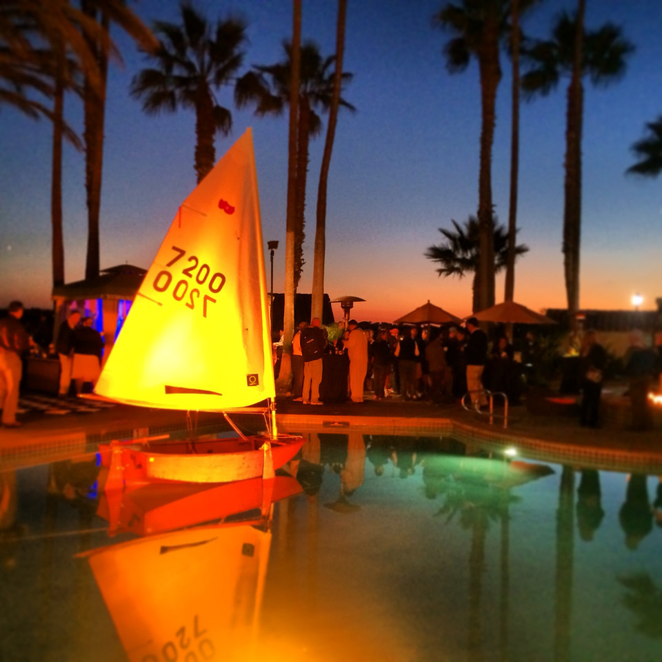 2/5 US Sailing Leadership Forum Welcome Reception - Sabot in the pool