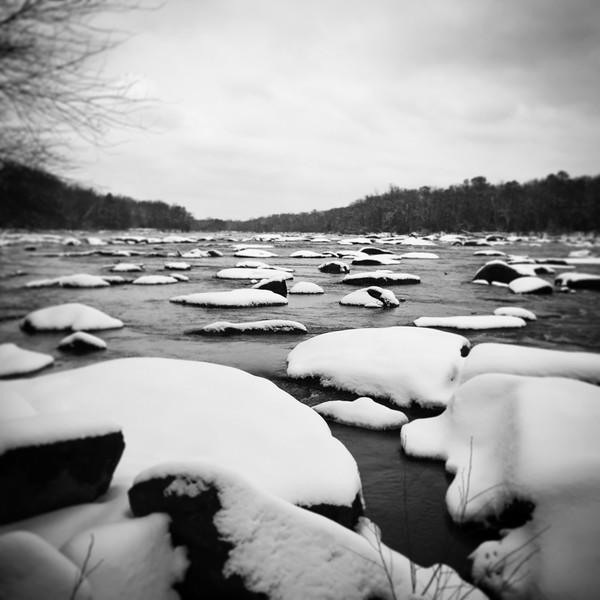 2/26 Snow at the James River Rapids, Pony Pasture