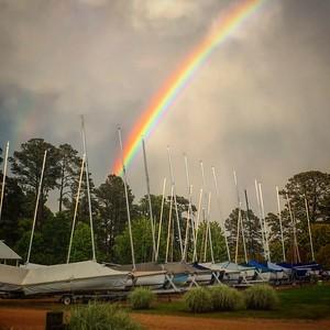 Rainbow over Stove Point