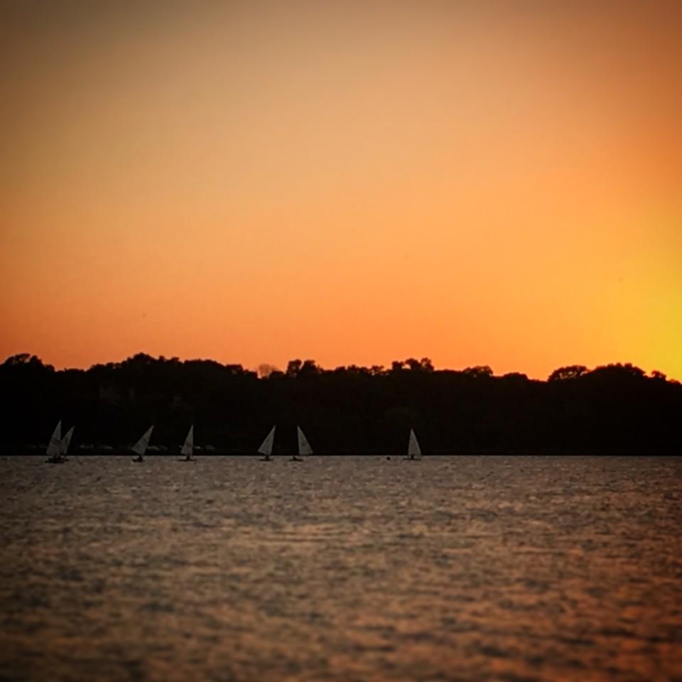 Sunset Laser Sailing on White Rock Lake