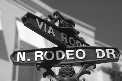 Signs on Rodeo Drive