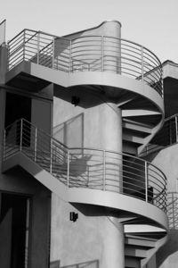 Staircase at a Beach House in Santa Monica, CA