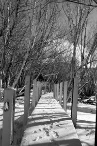 Snow Covered Bridge in Park City, UT