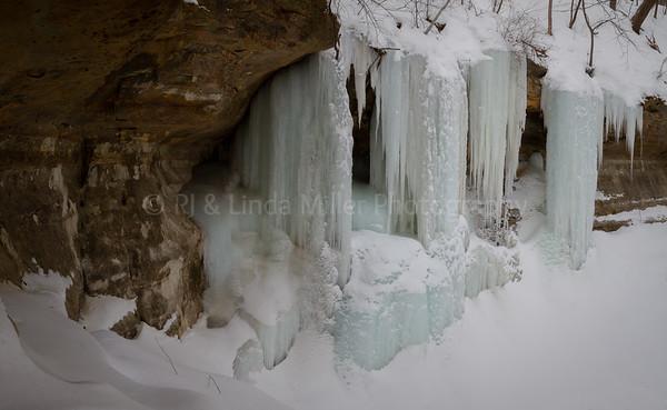 Ice Wall, Hidden Ravine,  Houston County, MN