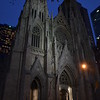 Saint Patrick's Cathedreal at night, NYC, 22 October 2016