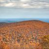 HDR photo of the pretty orange mountain.