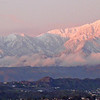 Mount Baldy, after a southern California winter storm - around sundown