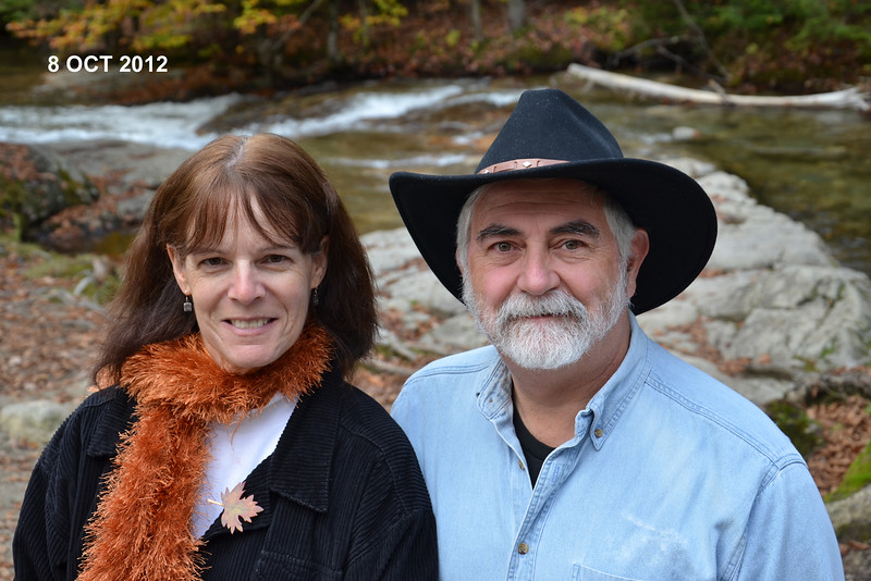 Judi and Dave, selfie pose at The Basin, New Hampshire, 8 Oct 2012
