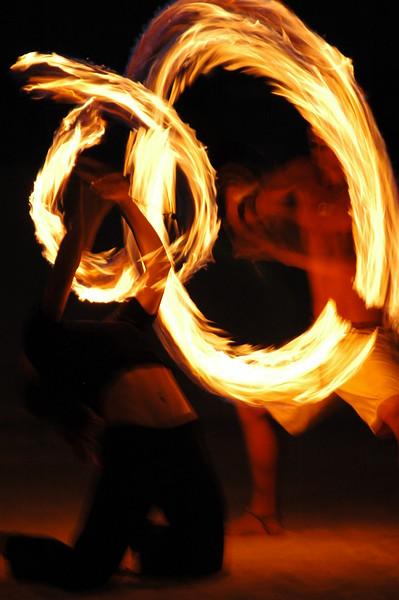 Hawaii fire twirl