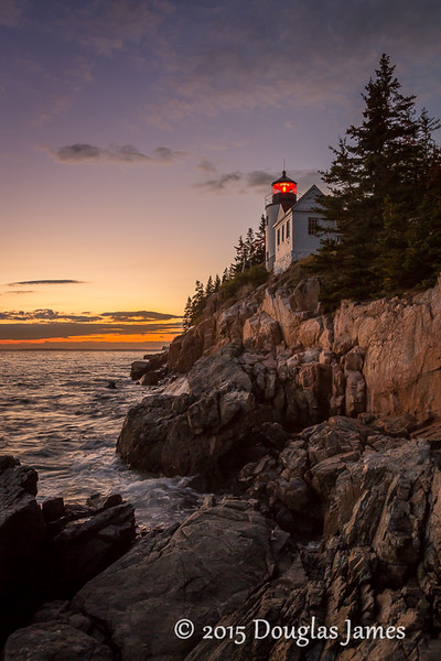 Bass Harbor Head Light Sunset