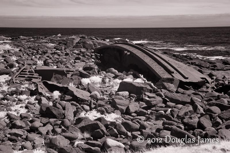 Tugboat D. T. Sheridan wreckage