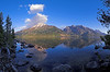Jenny Lake. A fifteen frame matrix panorama stitched in Auto-stitch. (The original file ended up being 22mp. Not bad for my old 5mp E-1).