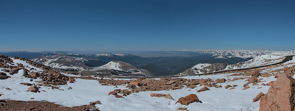 View from summit - 14,270'