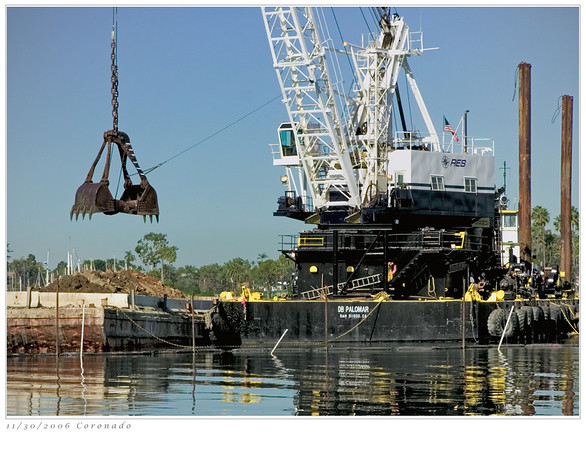 Dredge in Coronado