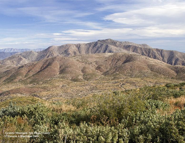 Granite Mountain viewed from Pedro Fegas