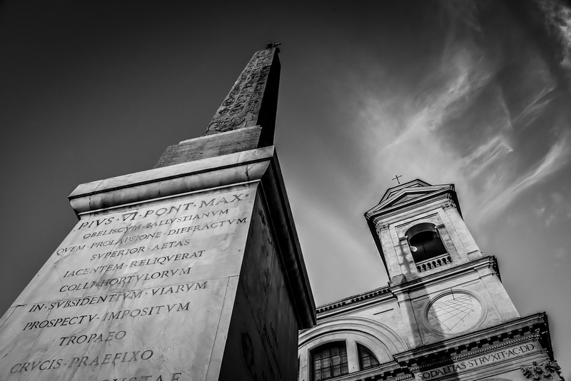 Top of Roman Steps in Rome, Italy