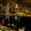 Singapore at Night from Marina Bay Sands