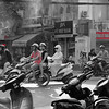 Busy intersection in Hanoi, Vietnam