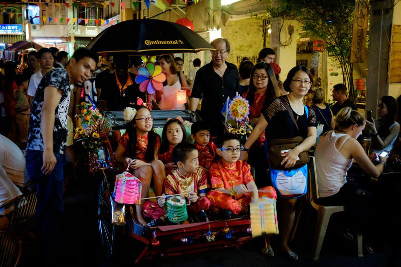 Love Lane kids on Penang Trishaw