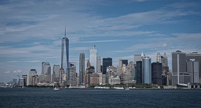 NYC-Manhattan Skyline with new WTC1