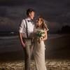 Jenni and Sean Beach wedding portrait Sandy Beach