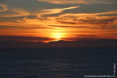 Sunset, Hubbard Glacier - Alaska