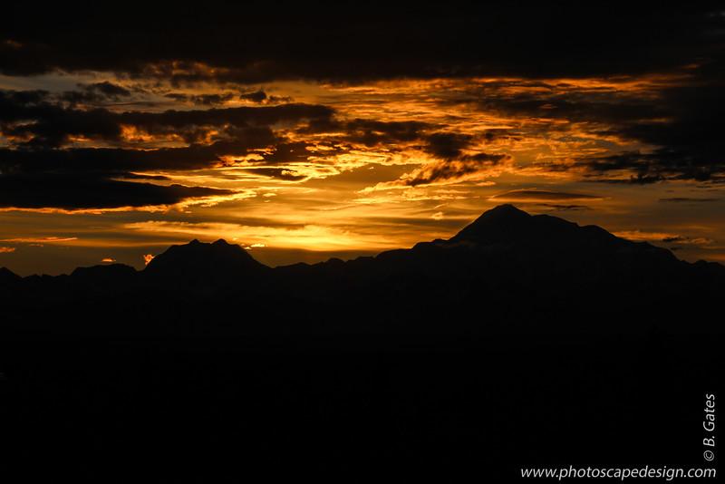Sunset, Mt. McKinley  - Denali National Park, Alaska