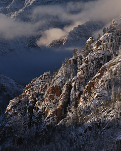 Winter Storm in Oak Creek Canyon