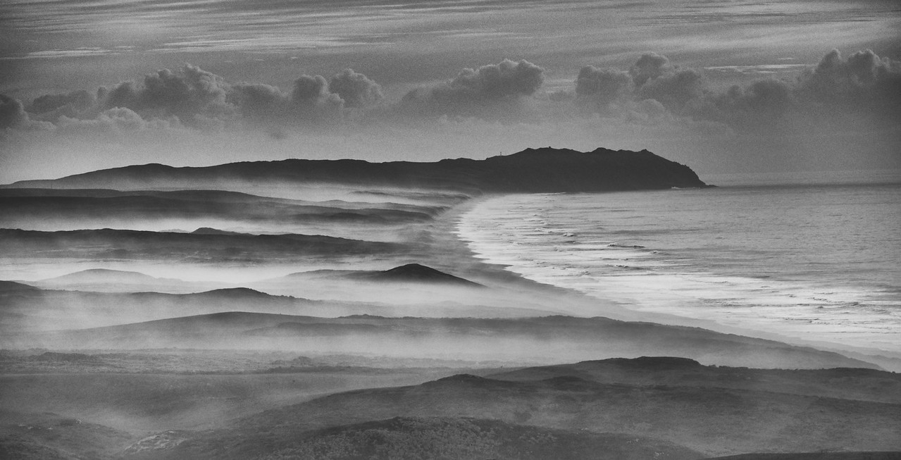 Point Reyes Fog First place B&W landscape prints, CCOR Salon 2015