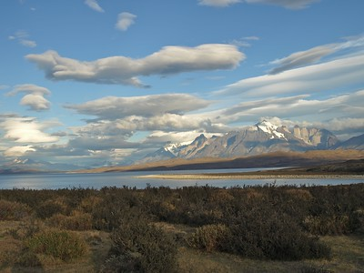 Los Torres del Paine from Lago Sarmiento, Chile