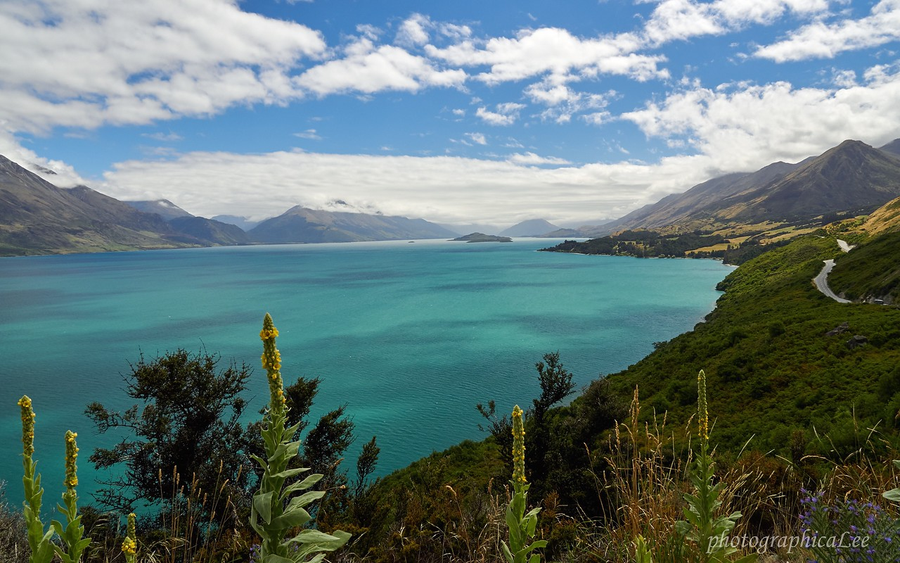Lake Wakatipu from the Glenorchy road, New Zealand