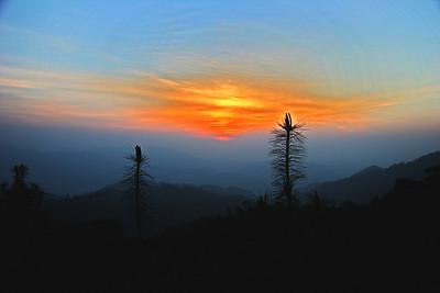 Sunrise looking toward Sagamartha, Mt Everest.