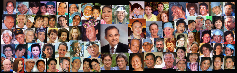 The Aloha Medical Mission volunteers over the years. 1988 to present.