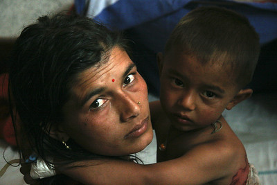 Mother and child in Tansen Mission hospital, 2008