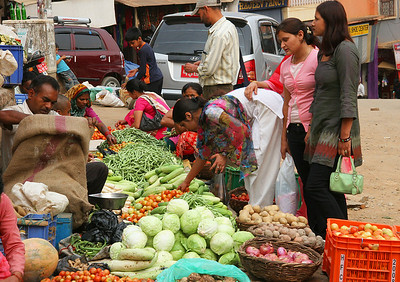 Market, Tansen.