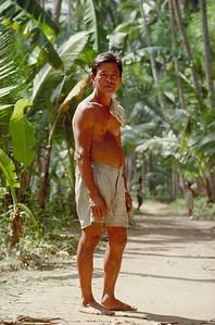 Filipino farmer, Cebu, Philippines, 1989, during the coup d' etat.