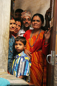 Patients waiting to see me at the surgical clinic, Tansen.