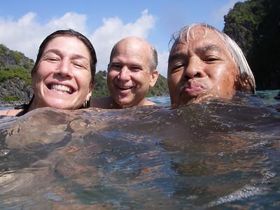 Diane, Peter, me in Halong Bay.