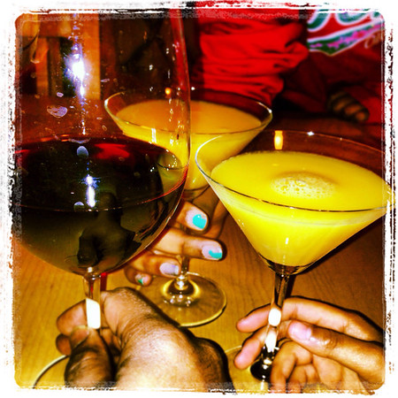 Drinks with my girls. #datenight