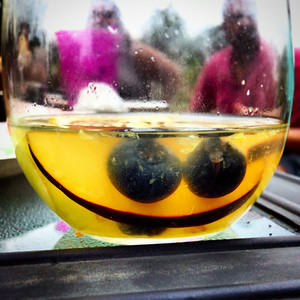 Even the sangria is having a good time.