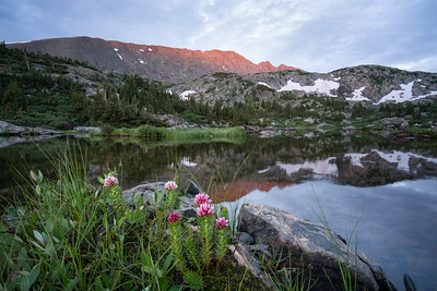 First light on Quandary Peak, Mohawk Lake, Breckenridge, CO