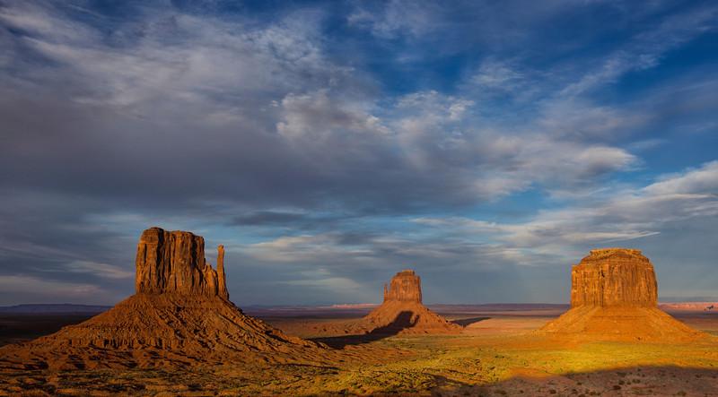Shadow of a mitten on a mitten, Monument Valley, AZ