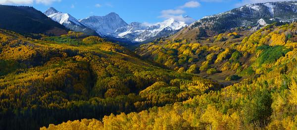 Capitol Creek panorama, Snowmass, CO