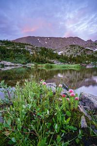 Mohawk Lake sunrise, Breckenridge, CO.