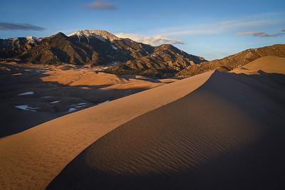 Last light on the Great Sand Dunes National Park