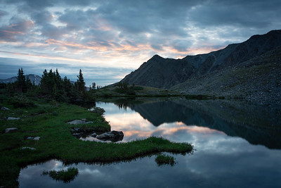 Sunrise over Lower Ptarmigan Lake, Chaffee County, CO