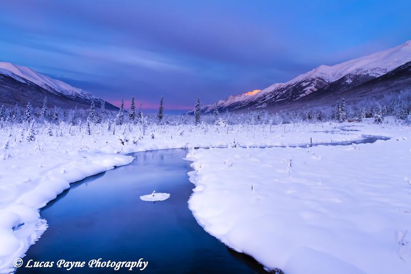 Eagle River Nature Center in Chugach State Park<br /> HDR<br /> November 28, 2011