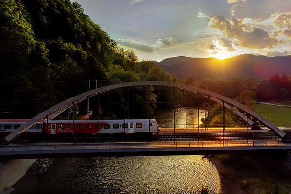 Eisenbahnbrücke bei Badl